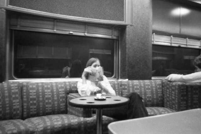 Amtrak Lounge Car, ca. 1974.