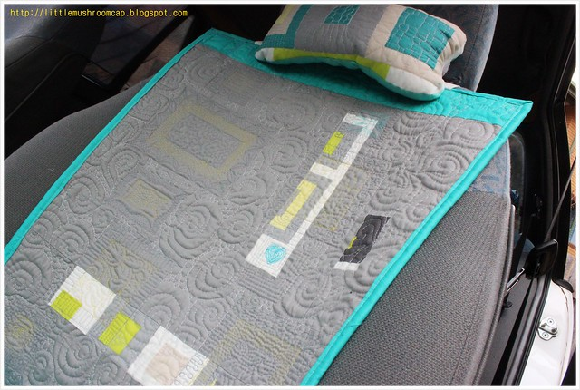 Make It Right Challenge- Car Seat Pad_Angela Walter Panel- reversible- front
