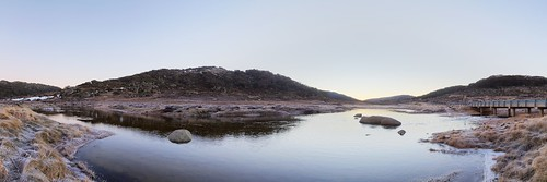 road panorama mountains water sunrise river dawn nationalpark stream snowy pano kosciuszko charlottespass