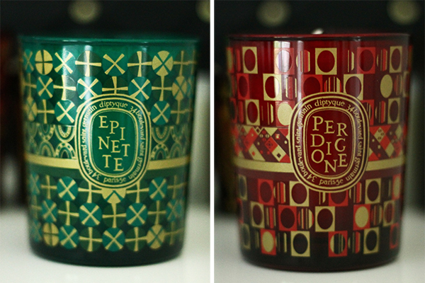 diptyque epinette and perdigone candles
