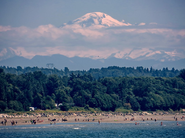 White Rock Beach and Mt Baker