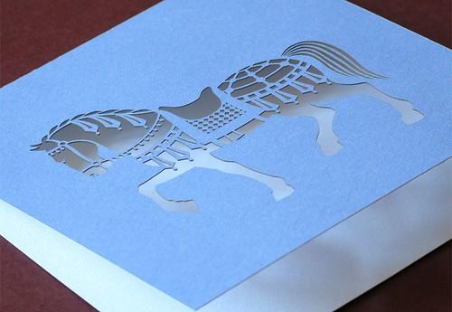 Cut Paper Horse