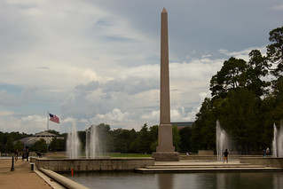 Image of Pioneer Memorial Obelisk. houston reflectingpool hermannpark pioneermemorialobelisk