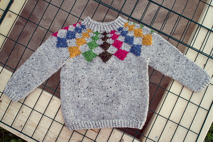 Harlequin sweater