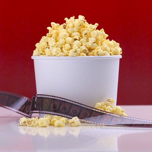 popcorn and a movie  credit: http://office.microsoft.com/en-us/images/results.aspx?qu=popcorn&ex=1