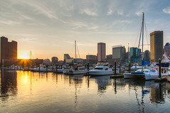 Baltimore Harbor Sunset