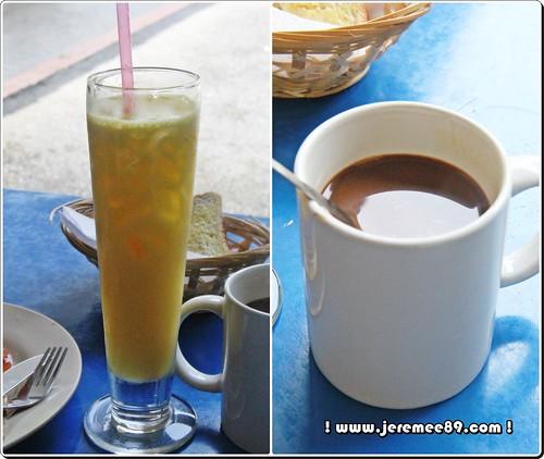Big Bens English Breakfast @ Waterfall Road - Coffee & Orange Juice
