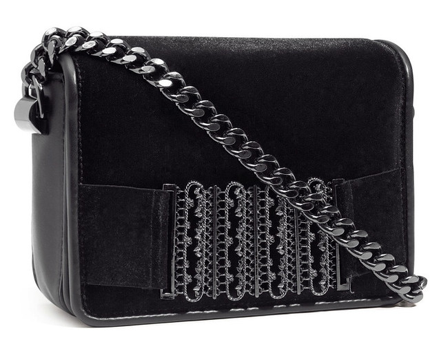 H&M velvet chain box bag