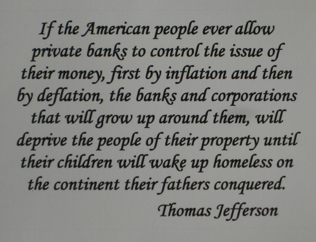 Quote By T Jefferson, Money