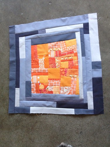 Made Fabric Orange Block