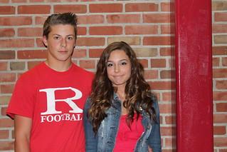 Tyler Walker (9) and Aubrey Ratliff (9) of the Freshman Homecoming Court.