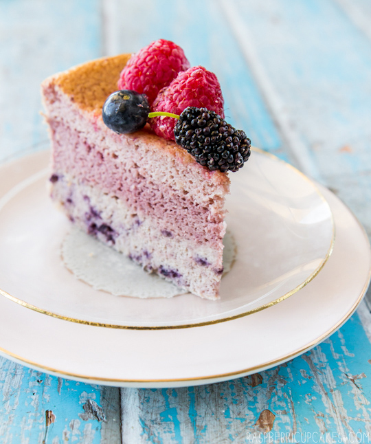Triple Berry Japanese Cotton Soft Cheesecake