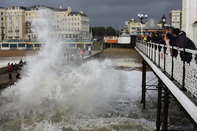 St Jude's storm, Brighton Pier.