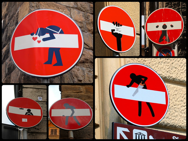 Street art by Clet