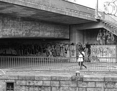 Bridge, Women, Graffiti