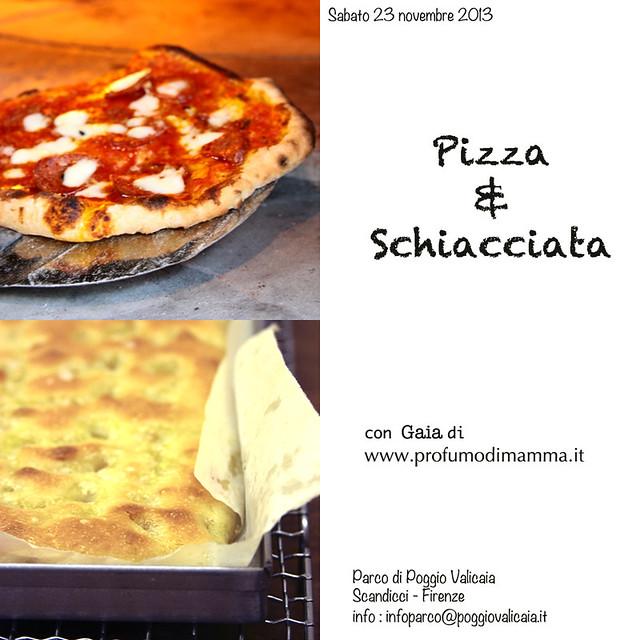 Corso di Pizza e Schiacciata al parco di Poggio Valicaia (FI)