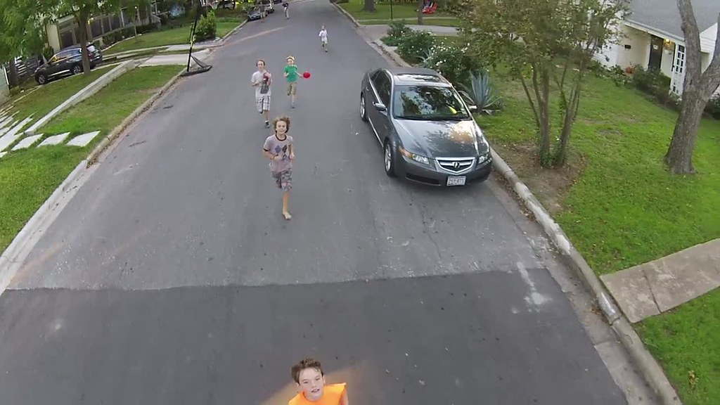 Running with drones