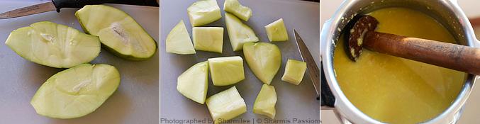 Raw Mango Sambar Recipe - Step1