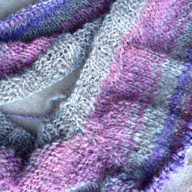 Knitting handspun