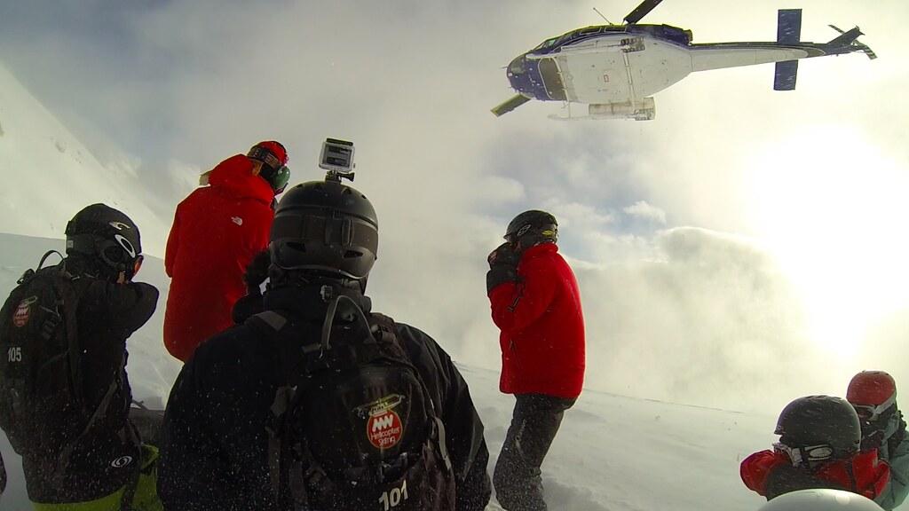 Das erste Mal Helikopterboarden!