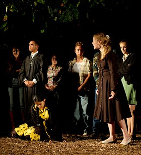 """The fall 2013 theatre production """"The Rimers of Eldritch"""" was performed in non-traditional spaces, like the Pomona College Organic Farm."""