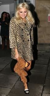 Pixie Lott Leopard Print Coat Celebrity Style Women's Fashion