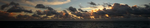 ocean blue sky water clouds sunrise florida air atlantic