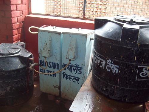 Bio-sand filters in the rooftop rainwater harvesting system