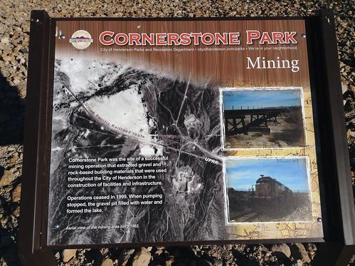 Mining Sign, Cornerstone Park @cityofhenderson