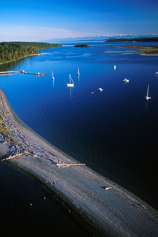 Sidney Spit on Sidney Island, Gulf Islands National Park, Southern Gulf Islands, British Columbia, Canada