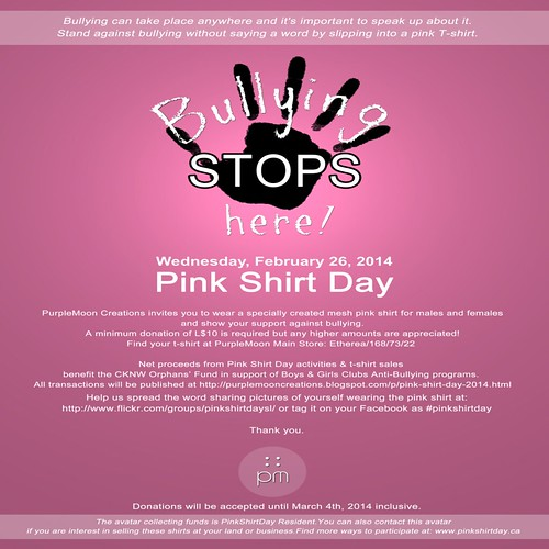 PinkShirtDay_PressAd by Kara 2
