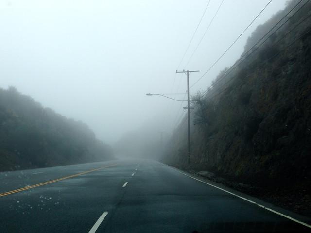 foggy kanan road