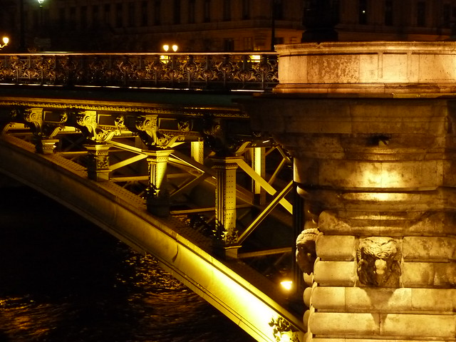 Night Seine Bridge Detail