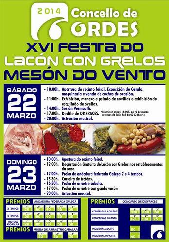 Ordes 2014 - Festa do Lacón con grelos en Mesón do Vento - cartel