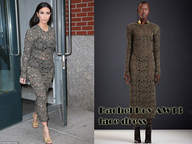 Rachel-Roy-AW13-lace-dress, Rachel Roy AW13, Rachel Roy AW13 lace dress, dare to bare in a see through dress,  see through dress,  transparent clothes, transparent skirt, transparent dress