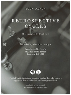 Retrospective Cycles book launch flyer