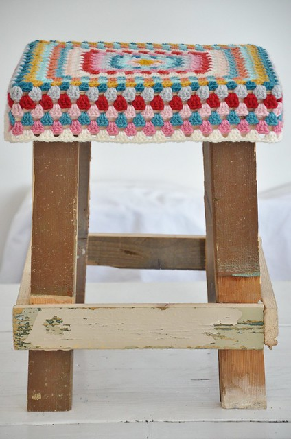 wood & wool stool alice