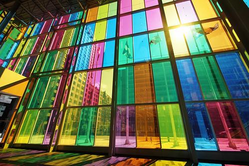Inside the Palais des congrès de Montréal