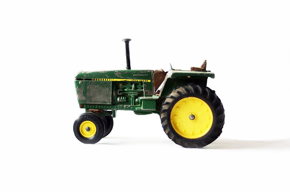 Vintage John Deere Tractor Toy