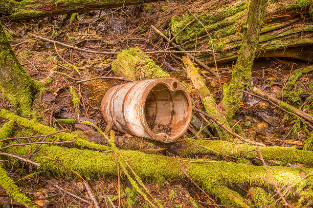 Discarded Industrial Drum