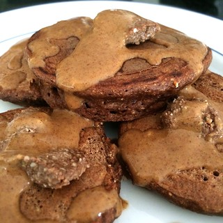 Chocolate PB Pancakes