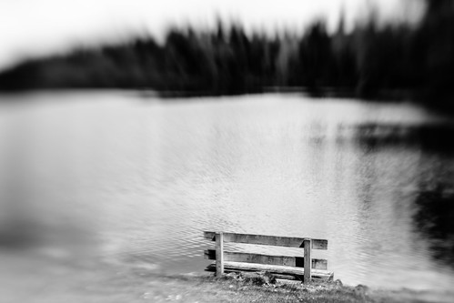 blackandwhite bw lake blur nature water monochrome lensbaby canon bench pacificnorthwest pnw canoneos5dmarkiii