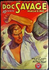 Doc Savage Vol. 2, No. 6 (Feb., 1934). Cover by Walter M. Baumhofer