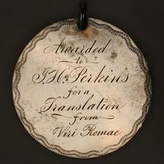 Public latin School medal reverse