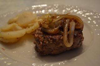 Homemade Turkey Burger with Sautéed Onions