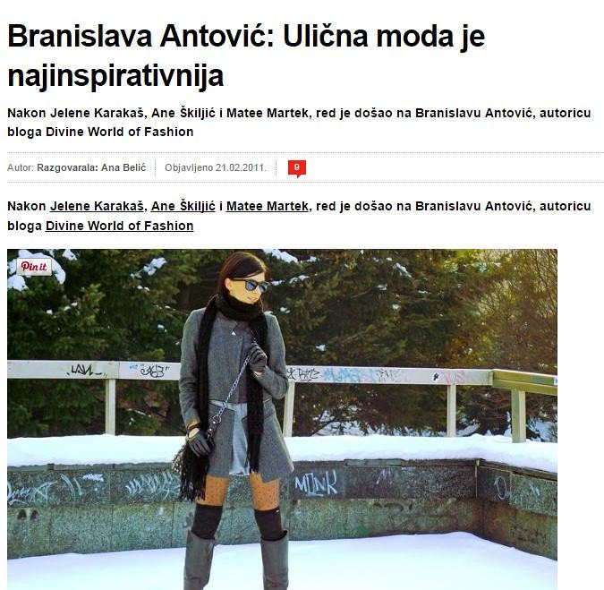 Intervju sa Branislavom Antovic za portal CroModa