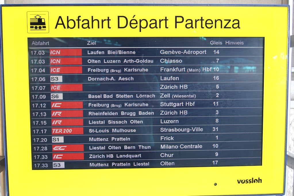Basel Bahnhof SBB CFF