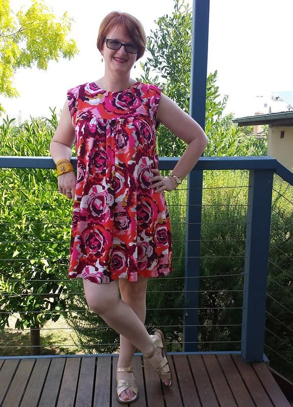 Tessuti Alice dress in rayon from Darn Cheap Fabrics