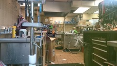 Bicycle kitchen (temporary Bicycle Space in old Burger King, 5th & G)