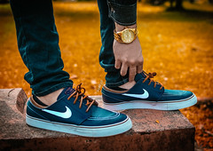 Time is Gold - Janoski Obsidian Leather